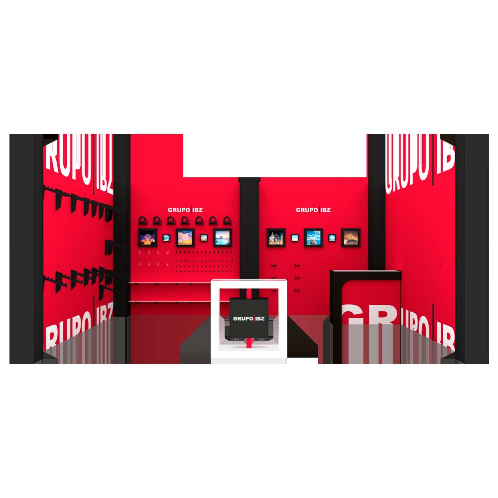 stand modular reutilizable personalizado